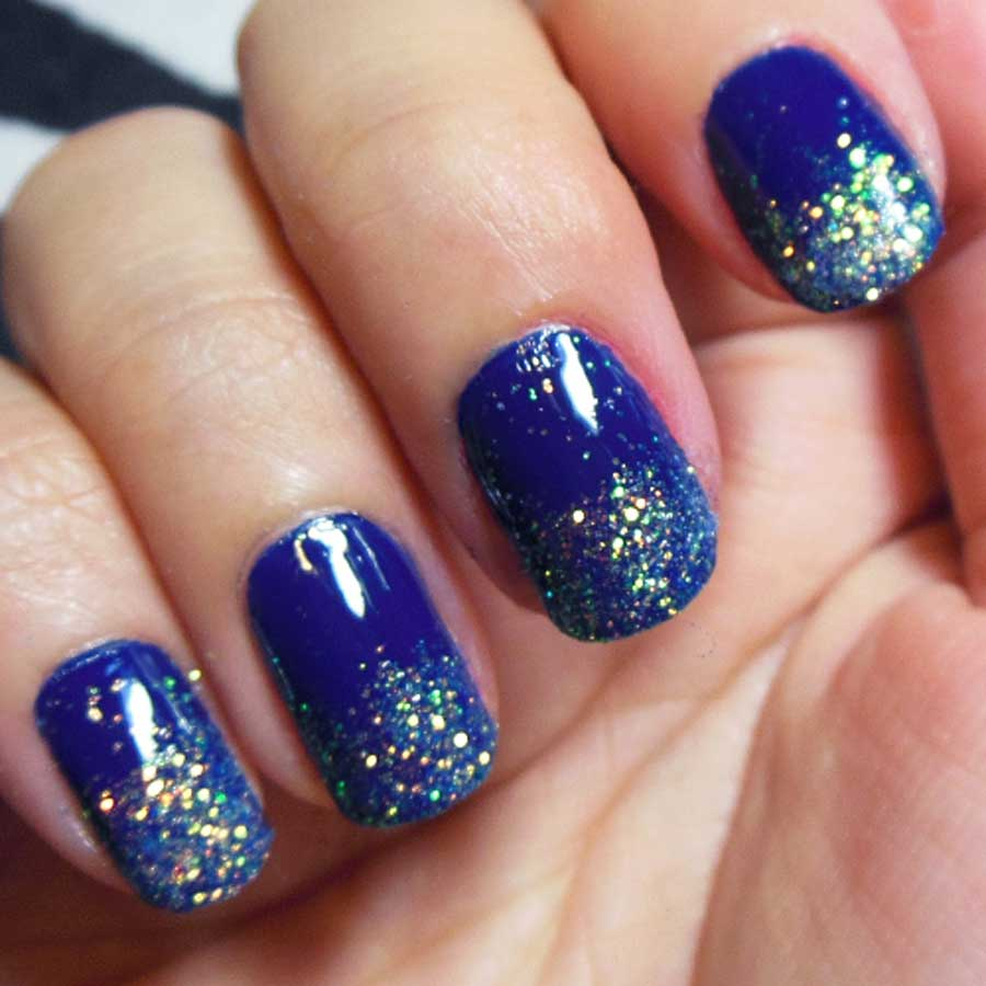 18 Creative Blue Nail Art Designs World Inside Pictures