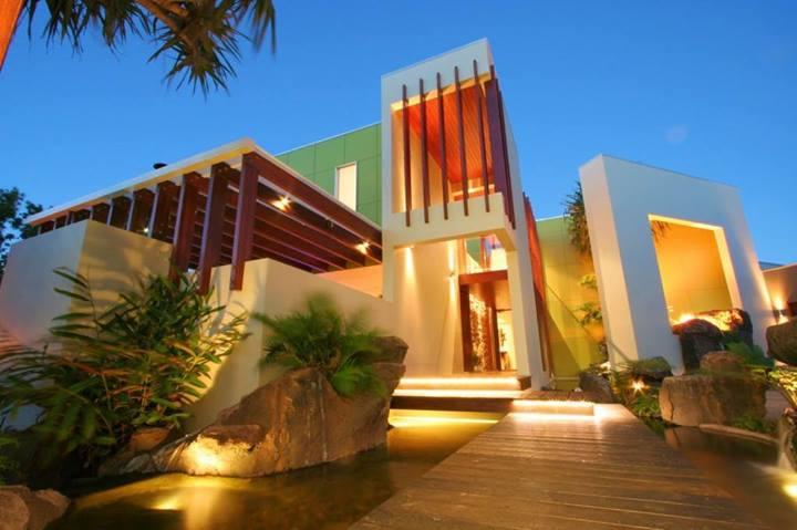 modern big mansion