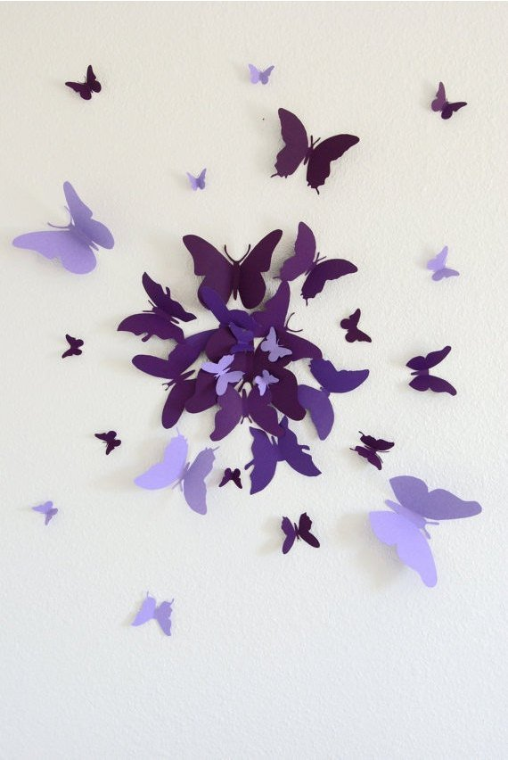 16 Cheap And Easy DIY Wall Beautification With Butterflies | World ...