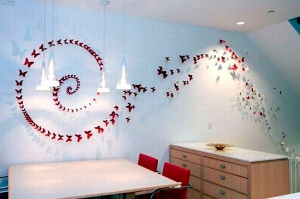 16 Cheap And Easy Diy Wall Beautification With Butterflies World Inside Pictures
