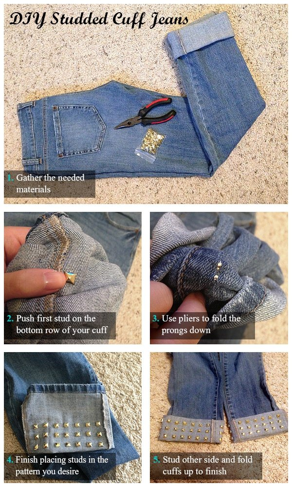 12 Fun And Easy Diy Ideas To Renew Your Old Jeans World