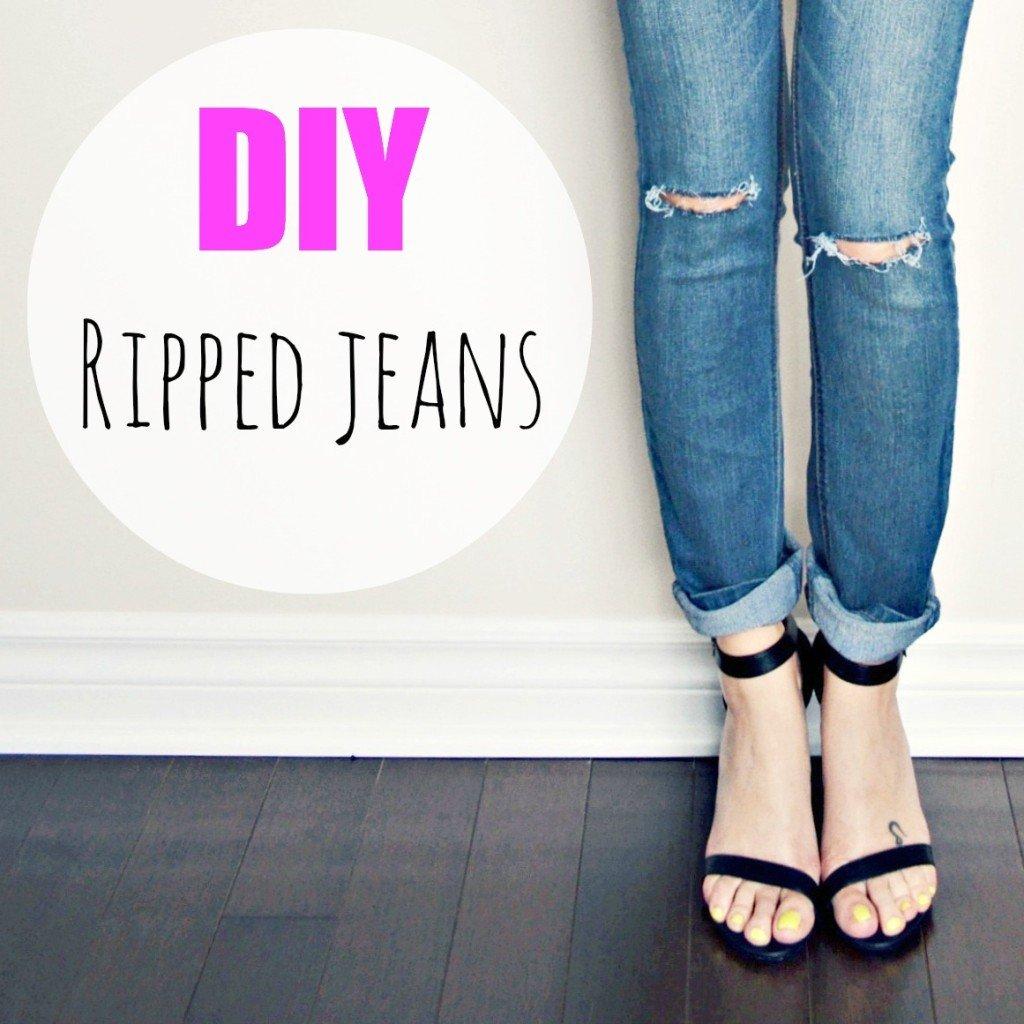 old jeans makeover