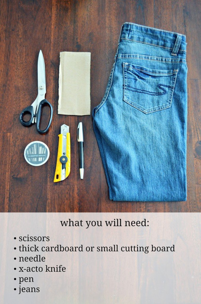how to remodel jeans