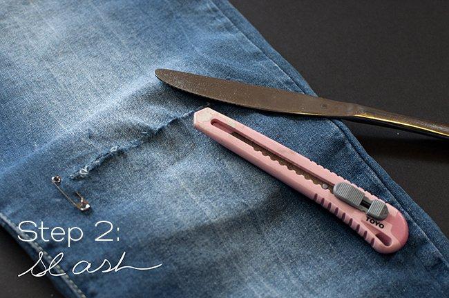 easy DIY jeans