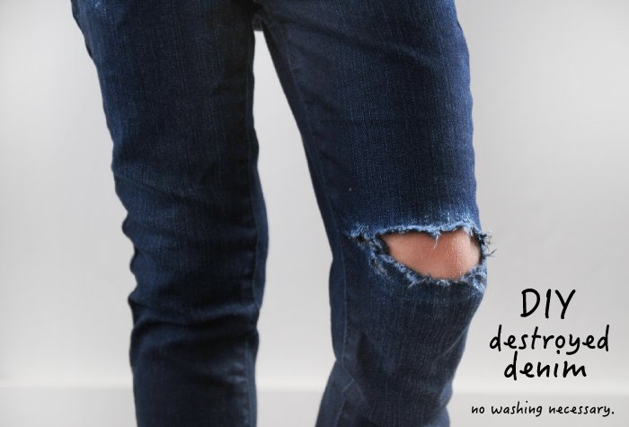 DIY destroyed denim