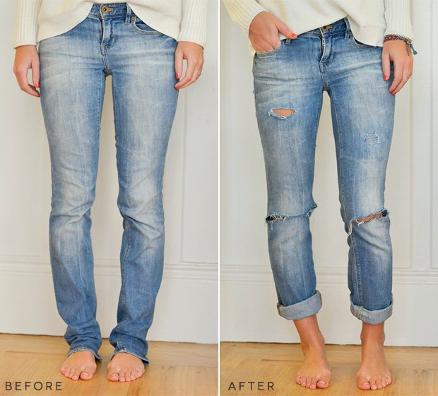 how to transform old jeans into new