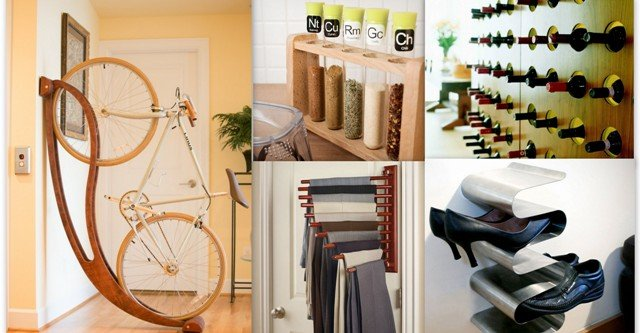 17 extraordinarily clever storage solutions and creative racks for great home organization