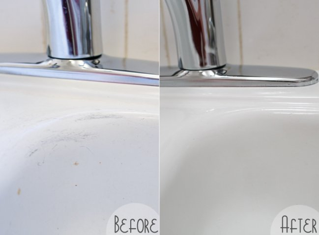 Exceptionnel How To Fix Porcelain Sink Scratches Image And Toaster