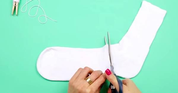 sock-cutting