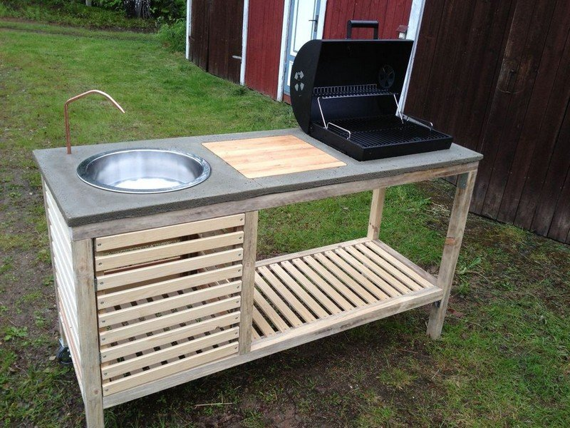Amazing DIY Idea To Make Your Own Portable Outdoor Kitchen | World ...