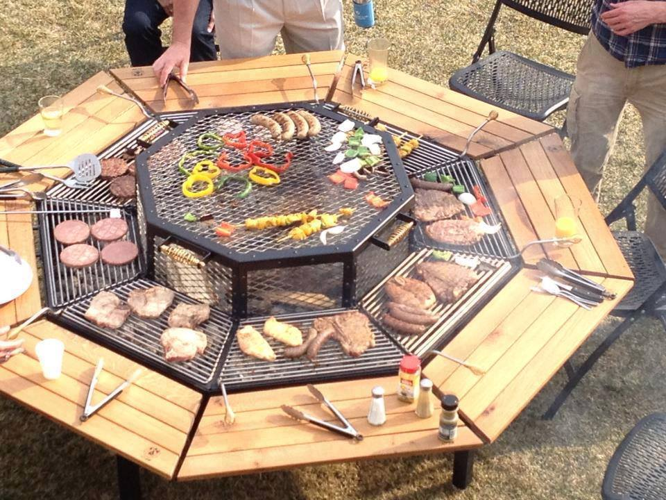 octagon grill table