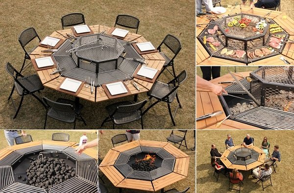 octagon grilling table