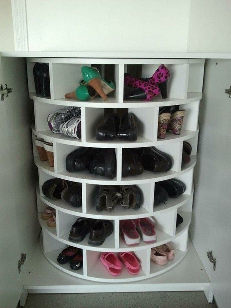 Charmant Lazy Susan Shoe Storage Examples 01