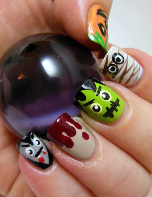 14 Spooky Halloween Nails Designs That Are Better Than Your Costumes ...