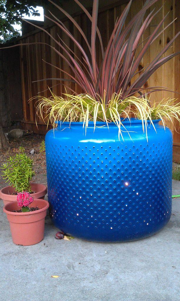 washing-machine-drum-planter