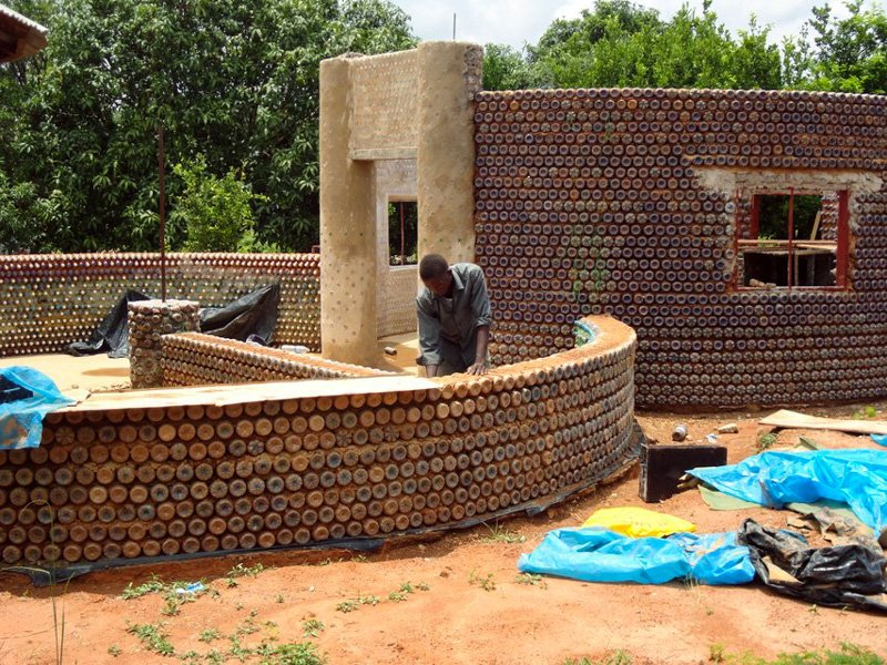 Absolutely Genius Idea: Fireproof, Bulletproof, And Eco-Friendly Homes Built With Plastic Bottles And Mud