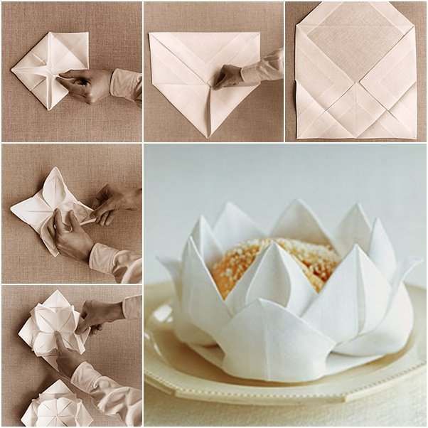 15 truly amazing napkin folding ideas that will wake up your diy rose flower napkin folding tutorial mightylinksfo