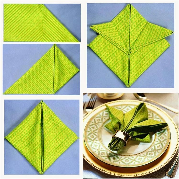 Napkin Folding Tutorial - Double Star Napkin Fold Technique for ... | 748x748