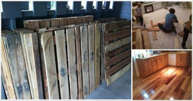 Must-See DIY Project: From Pallets To Floor, The Art Of Wood Flooring