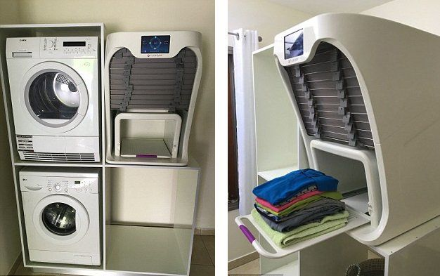 This Machine Will Iron And Fold Your Laundry In Less Than