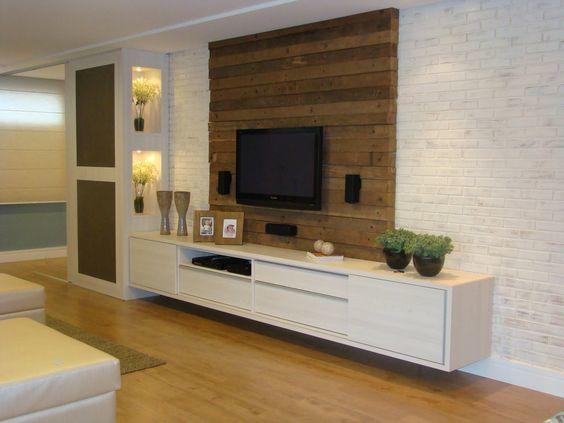 Handyman Dublin Interior Trend Wooden Wall For Flat Screen Tv