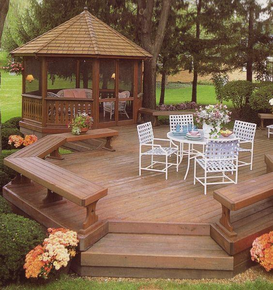 Outstanding Backyard Landscaping Ideas Gazebos In The ...