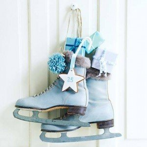 ice skates door christmas decoration - Ice Skate Christmas Decoration