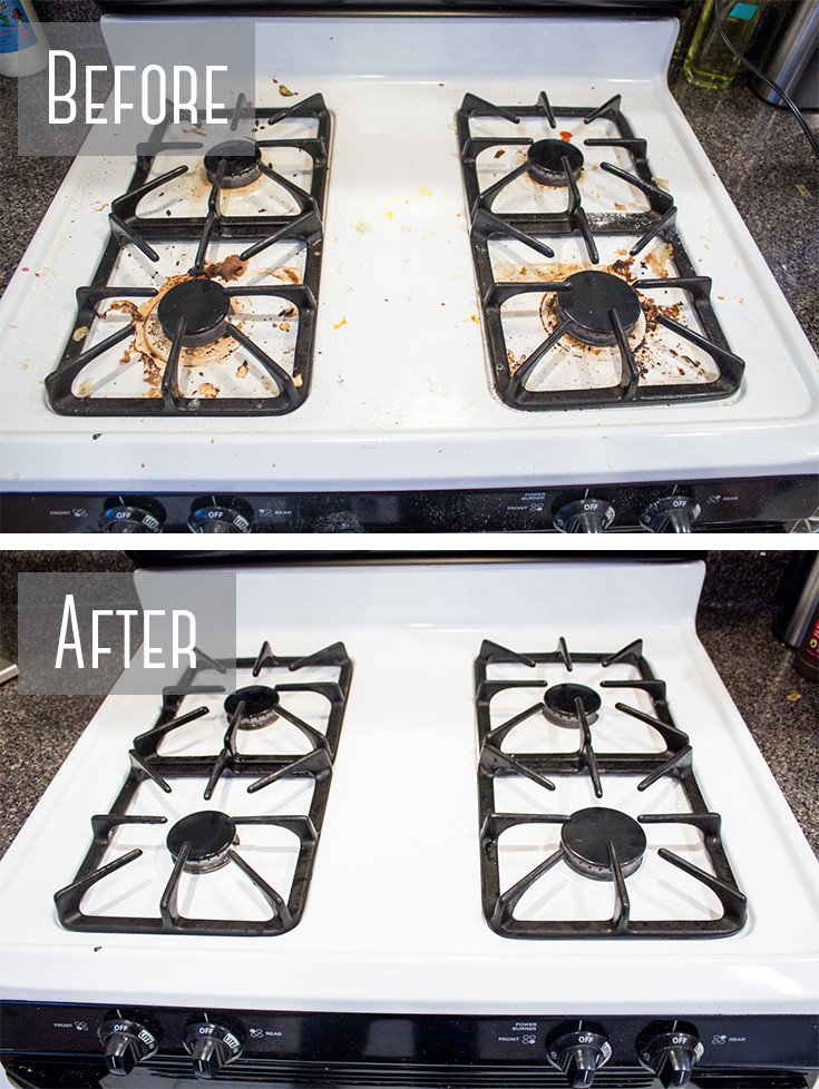 How To Really Clean A Stove Top Even All The Baked On Gunk