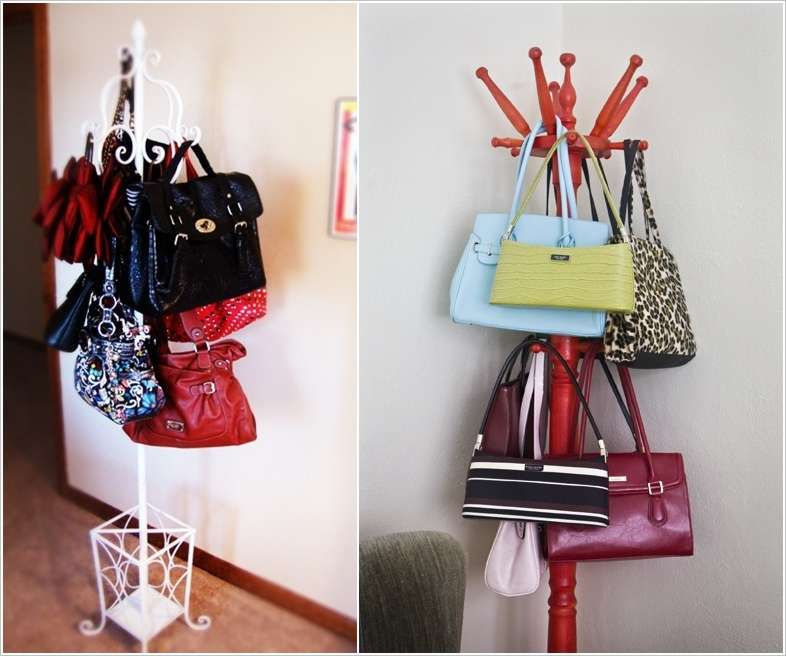 bag storage ideas for small spaces