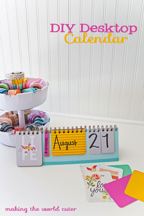 Calendar Design Diy : Cute diy calendars to welcome the new year organized