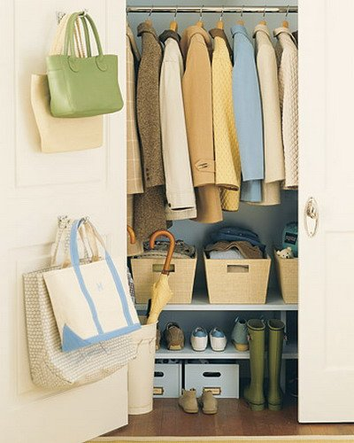 diy bag hanger organizer
