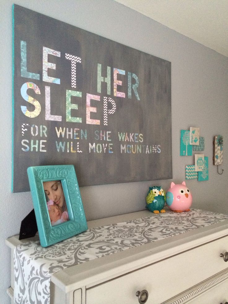diy nursery accent wall