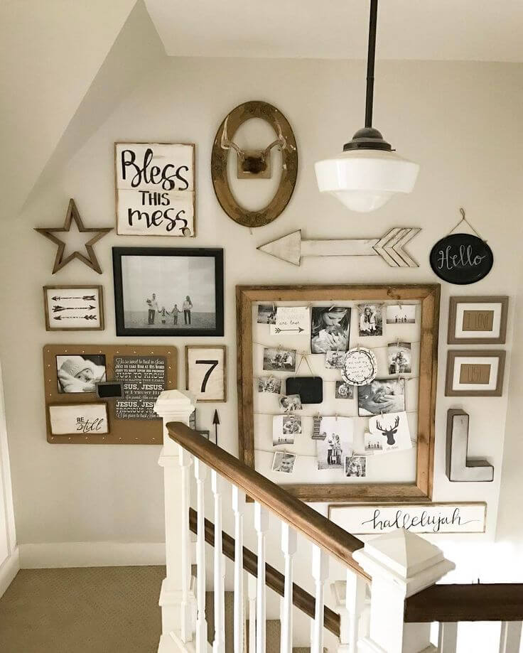 staircase wall art