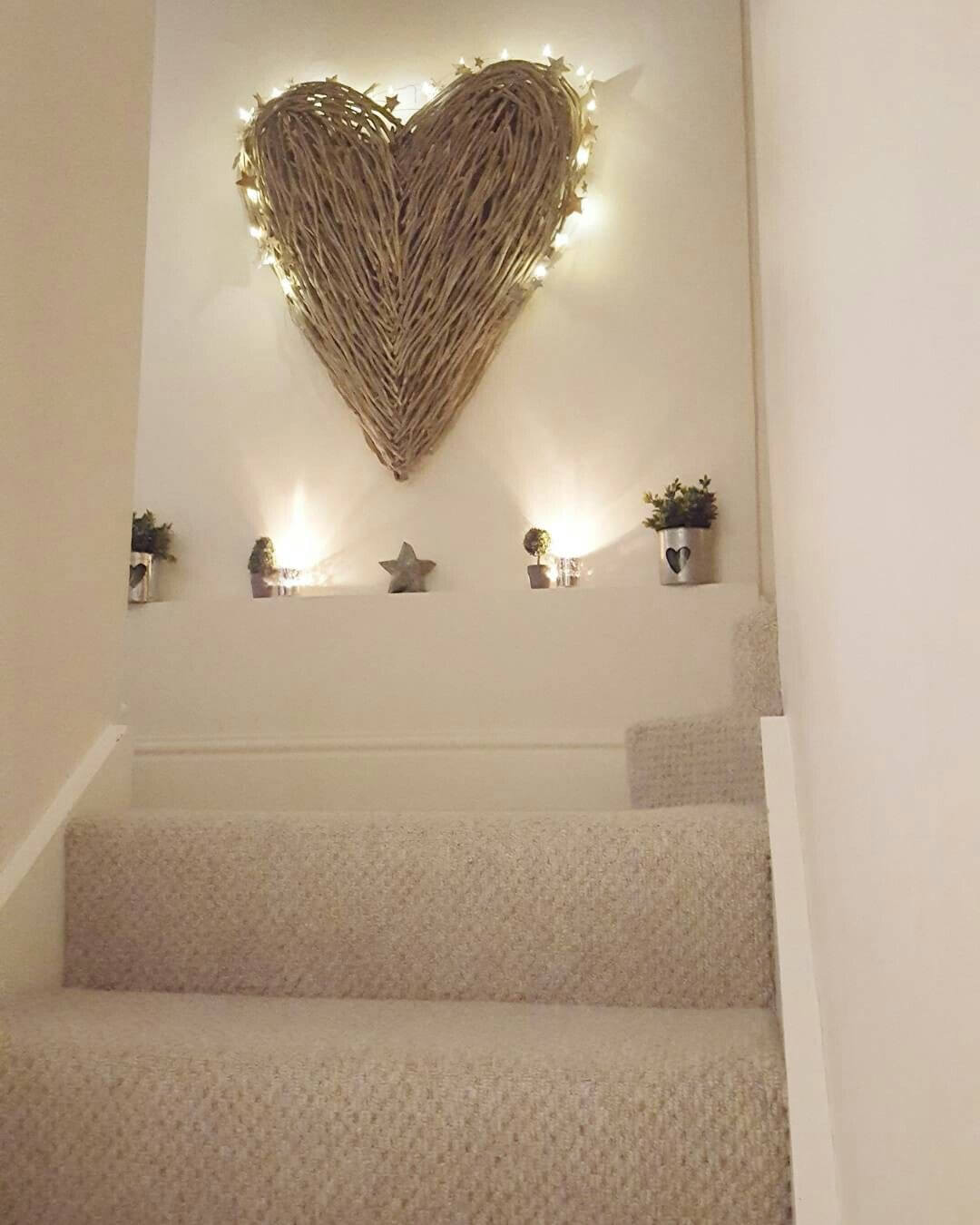 DIY staircase decor