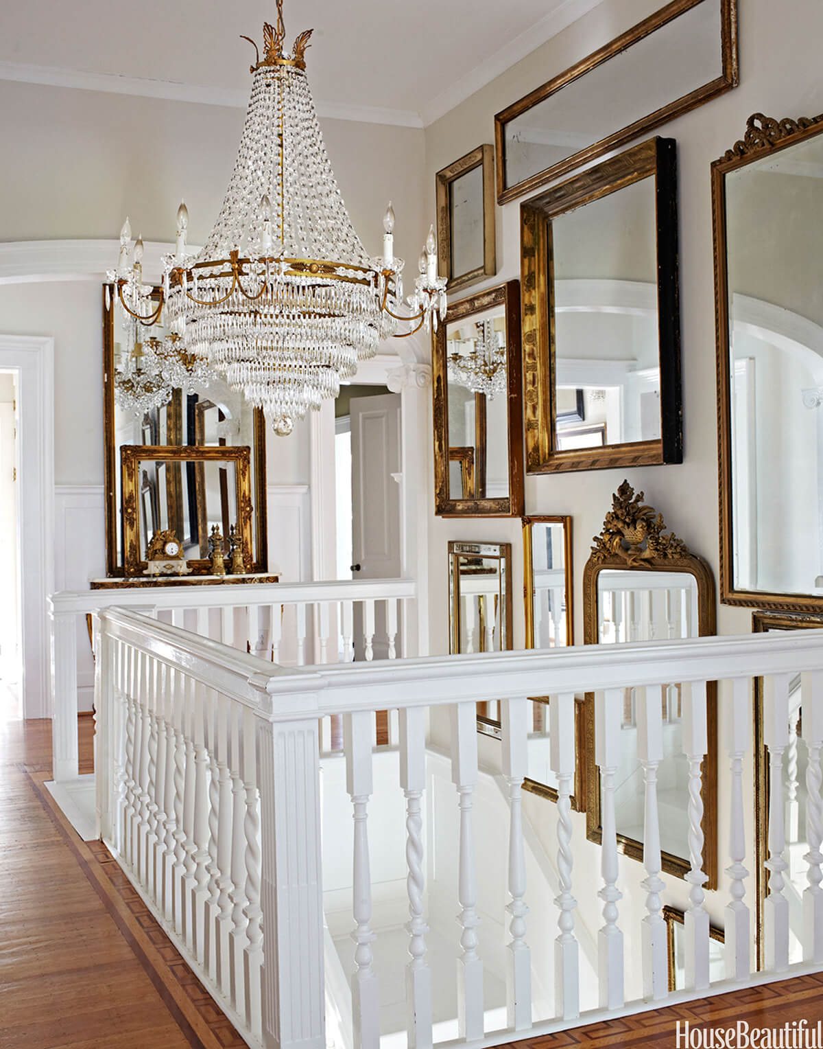 mirrors staircase decor