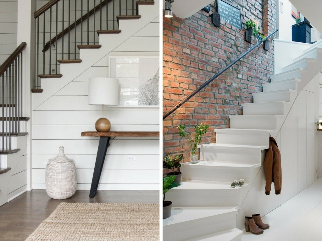 under staircase decor