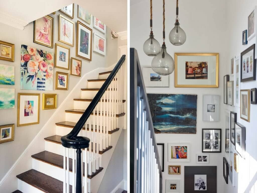 bold staircase decorations