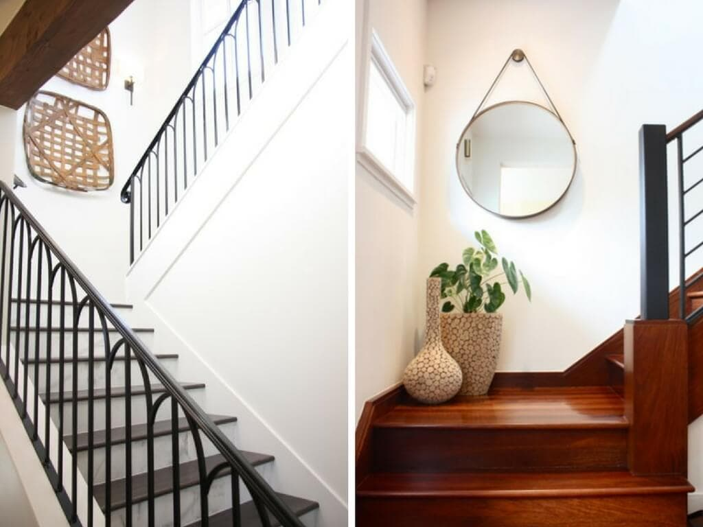 minimal staircase decorations