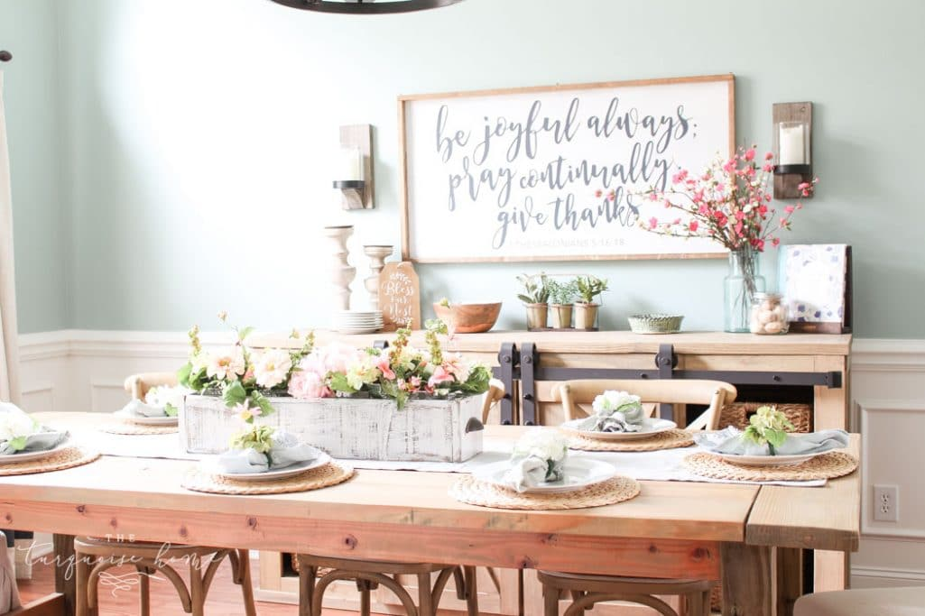 Our Spring Dining Room: How To Get Your Home Ready For The Change Of Seasons With