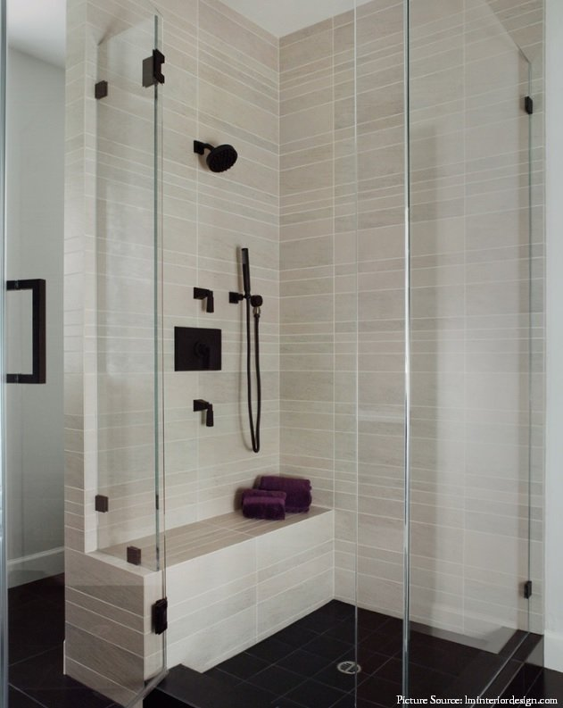 shower design with bench