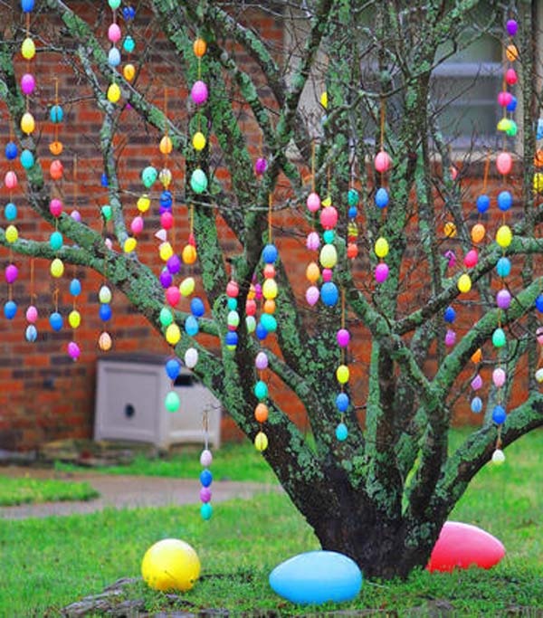 outdoor hanging easter decorations