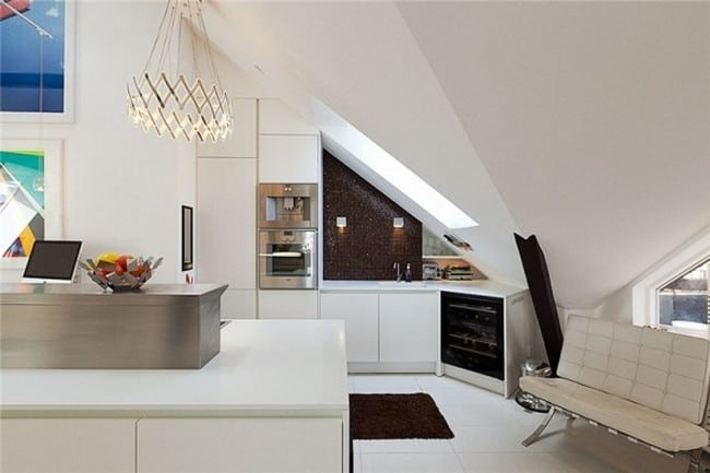 cool attic kitchen design ideas
