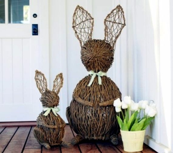 outdoor wooden easter decorations