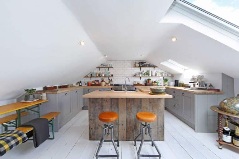 attic kitchen design