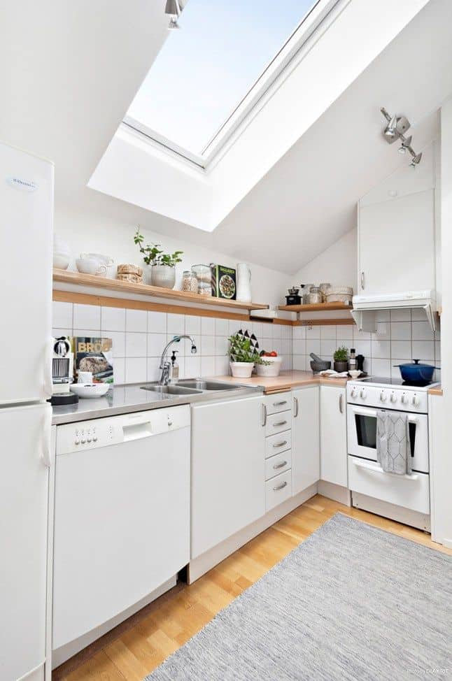 attic apartment kitchen