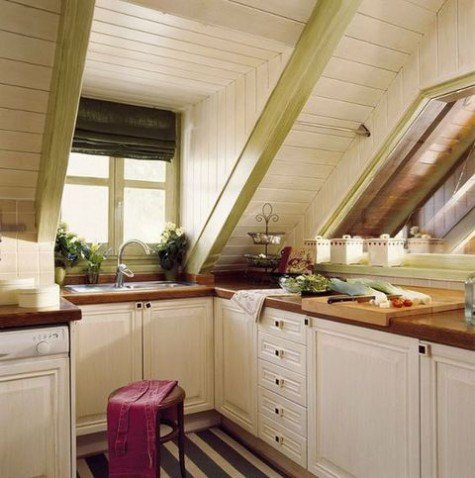 attic kitchenette