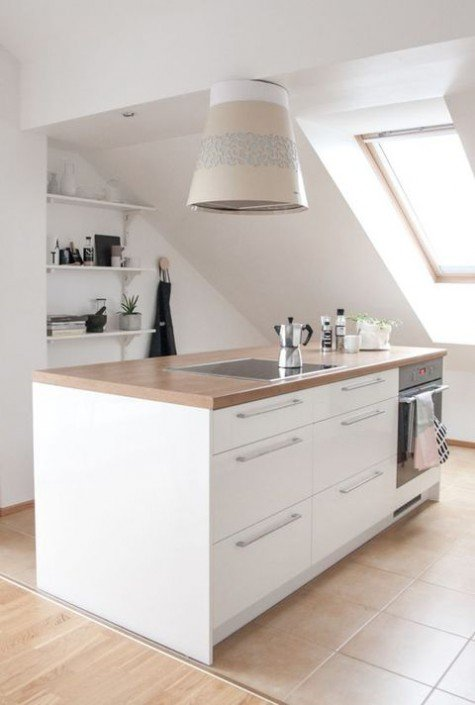 attic kitchen design ideas