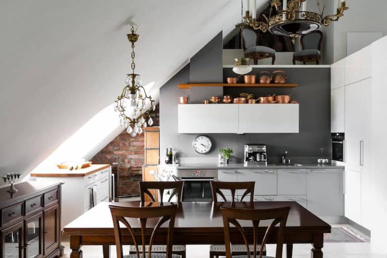 attic small kitchen ideas