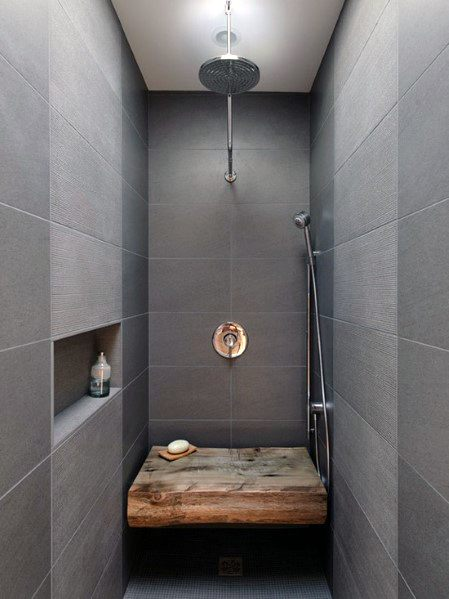 custom shower design ideas with large bench