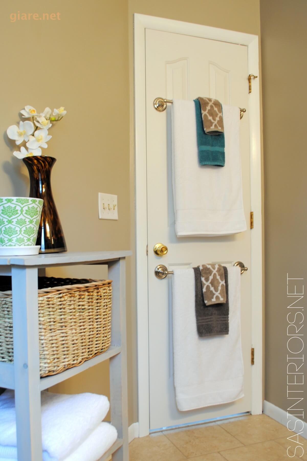 door towel storage
